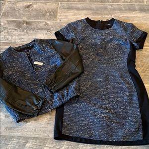 Madewell Blazer & Dress with Leather